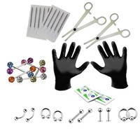 BodyJ4You Body Piercing Kit 14G Tongue 14 Gauge Jewelry Set 24 Pieces