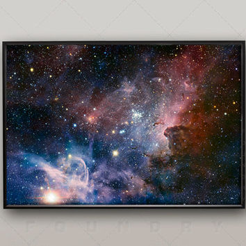 Space Poster of the Stars, Wall Decor, Shooting Stars, Constellations, Shooting Stars, Solar System for Kids, Universe, Heaven, Religion