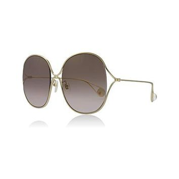 Gucci GG0362S 002 Gold GG0362S Square Sunglasses Lens Category 2 Size 57mm