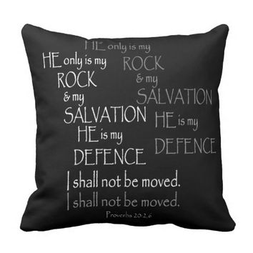 Black and White Proverbs Bible Verse Typography Throw Pillow
