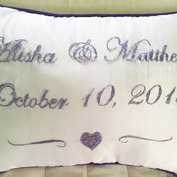 Wedding Pillow, Mr and Mrs Pillow, Wedding Date Pillow, Bridal Pillow, Bridal Shower Gift, Wedding Gift, Bridal Shower Gift, Couples' Gift