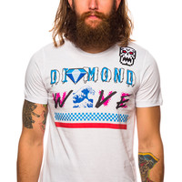 Brian Wood Diamond Wave Active White T-Shirt