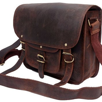 Large leather camera bag / Messenger / from FeatherTouch67 on