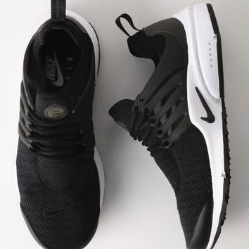 """NIKE""Air Presto Women Men Fashion Running Sport Casual Shoes Sneakers Black white sol"