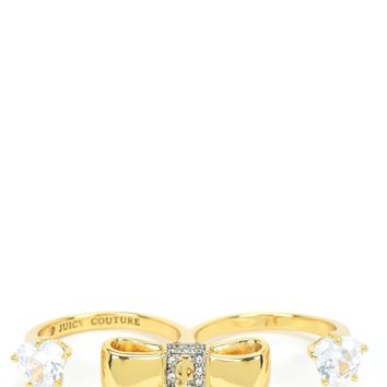 ICONIC BOWS DOUBLE FINGER RING