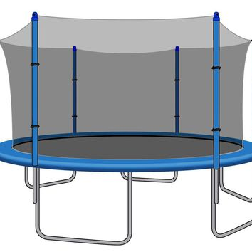 Enclosure Net for 12ft Trampolines - Fits 6 Straight Poles (Using Bolted Pole Caps)
