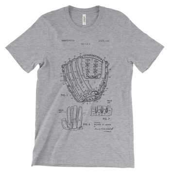 Baseball Glove Patent T-Shirt Soft Cotton