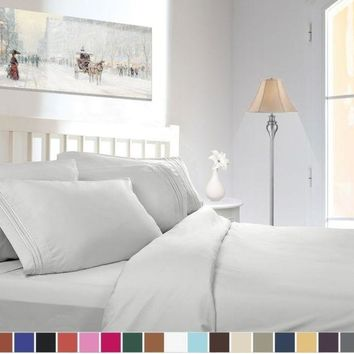 1800 COUNT DEEP POCKET 4 PIECE BED SHEET SET