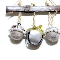 Lady Luna Bell And Acorn Yule or Christmas Ornament