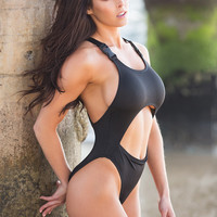 Black Cut-Out Monokini