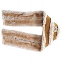 UGG Soft Nap Fur Winter Hat Cap Scarf Scarves