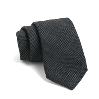 Fulton Tie in Blue Grey Plaid