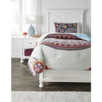 Q291001T Amerigo Twin Comforter Set - Pink/Aqua/Orange - Free Shipping!