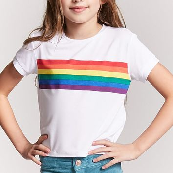 Girls Rainbow Graphic Tee (Kids)