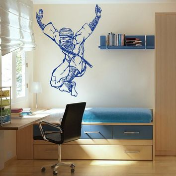 ik619 Wall Decal Sticker Ninja Japan spy defender dagger sword fighter