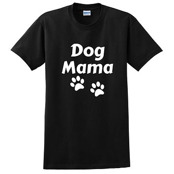 Dog mama funny cool adopt a pet dog mom pet lover birthday gift ideas T Shirt