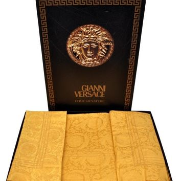 90-S VINTAGE RARE GIANNI VERSACE GOLD BAROQUE SHEET SET *BRAND NEW!*