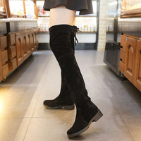 Suede Slim Thigh High Over the Knee Boots for Women