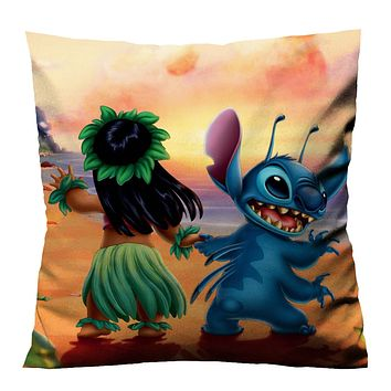LILO AND STITCH DANCING Cushion Case Cover