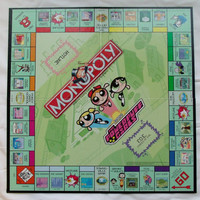 Powerpuff Girls Monopoly Gameboard 2001