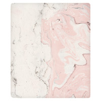 Pink Marble Fleece Throw