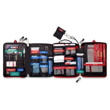 ONETOW Safe Wilderness Survival Car Travel First Aid Kit Medical Bag Outdoors Camping Hiking Emergency KIT Treatment 4 Sections Pack