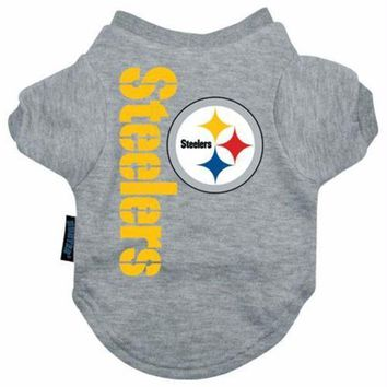 auguau Pittsburgh Steelers Dog Tee Shirt