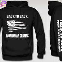Back to Back World War Champs USA Hoodie