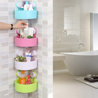 2016 Lovely Bathroom Corner Storage Rack Organizer Shower Wall Shelf with Suction Cup Hot Search (NAKEDSOAP'S SHOWER&BEYOND)