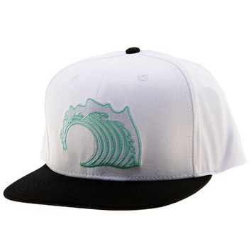 The White Wave Snapback Hat in White