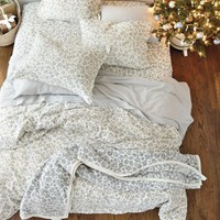 Snow Leopard Flannel Bedding