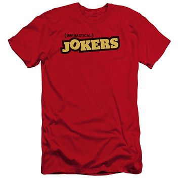 Impractical Jokers Premium Canvas T-Shirt Logo Red Tee