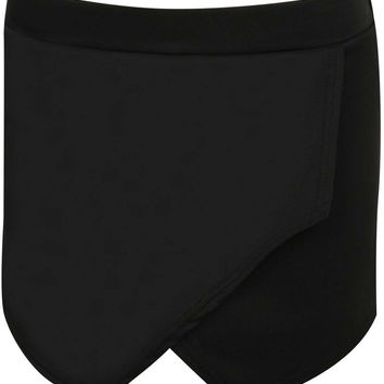 Jessica Plain Wrap Over Skorts in Black