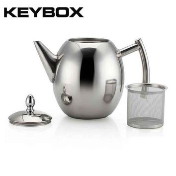 DCCKFS2 1000ML/1500ML Durable Teapot Coffee Tea Kettles Sliver Cold Water Pot Kettle With Strainer Home Kitchen Helper