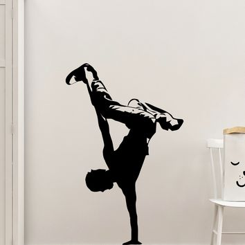 Break Dancing Wall Decal. Hip Hop Dancer. Urban Decor. #375