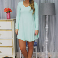 Heartbeat Dress - Mint