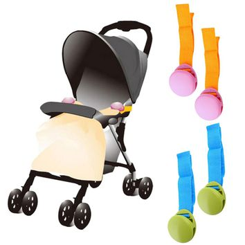 Delicate Baby Stroller Accessory 2017 Hot Selling 2pcs One Lot Glossy Multicolour Anti Tipi Clip Blanket Clip FCI#