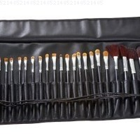 MASH 34pc Studio Pro Makeup Make Up Cosmetic Brush Set Kit w/ Leather Case - For Eye Shadow, Blush, Concealer, Etc.