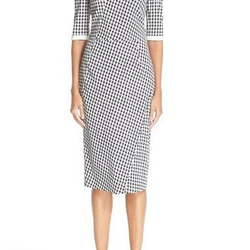 Anna Gingham Cady Shift Dress