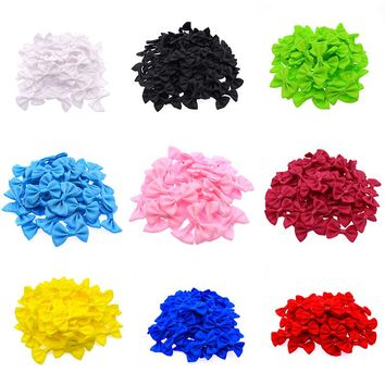 100 Pcs/lot Mini Small Ribbon Pet Bowknot Craft ONLY BOW NO CLIPS DIY Bow Tie Wedding Decor Hair Accessories