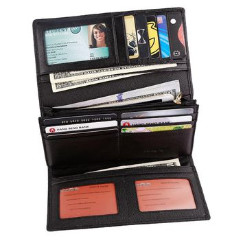 Luxury Brand Trifold Money Purse Womens Rfid Blocking Security Wallet  with Coin Pocket Red Black