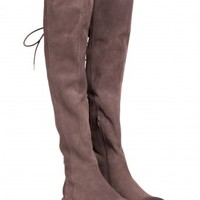 Jeffrey Campbell Shoes BIRELI Over-the-knee in Taupe Distressed Suede