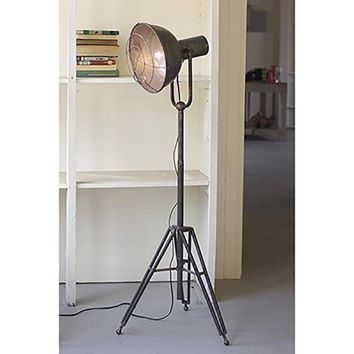 Standing Caged Studio Tripod Lamp