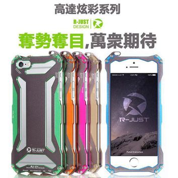 Original Design Armor metal Shell Cool Metal Aluminum protection phone cover shell case for iphone 6 6s 4.7inch  with hang rope