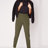 Missguided - Zip Ankle Cigarette Pants Khaki