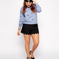 ASOS CURVE Exclusive Jumper With Watching Eyes