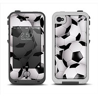 The Soccer Ball Overlay Apple iPhone 4-4s LifeProof Fre Case Skin Set