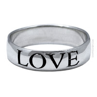 Silver Love Ring on Sale for $19.99 at HippieShop.com