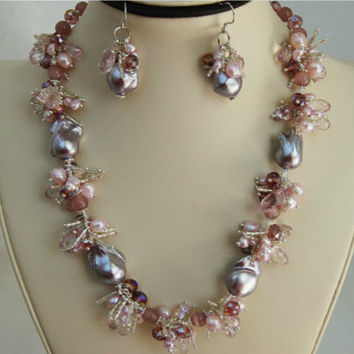 Splendid Gem Pearl Necklace F145