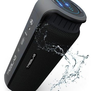 TREBLAB HD55 Bluetooth Speaker, Enjoy Loud 360° Surround Sound At Home, Outdoors Or Travel, 2017 New Model, Loudest 24W Portable Stereo, Best Bass Blue Tooth w/ Wireless Speakerphone, Waterproof IPX4